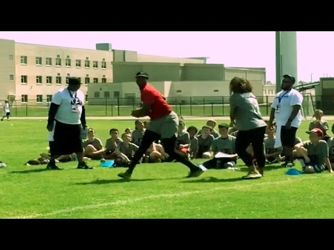 Jameis Winston trying out as a WR vs his girlfriend