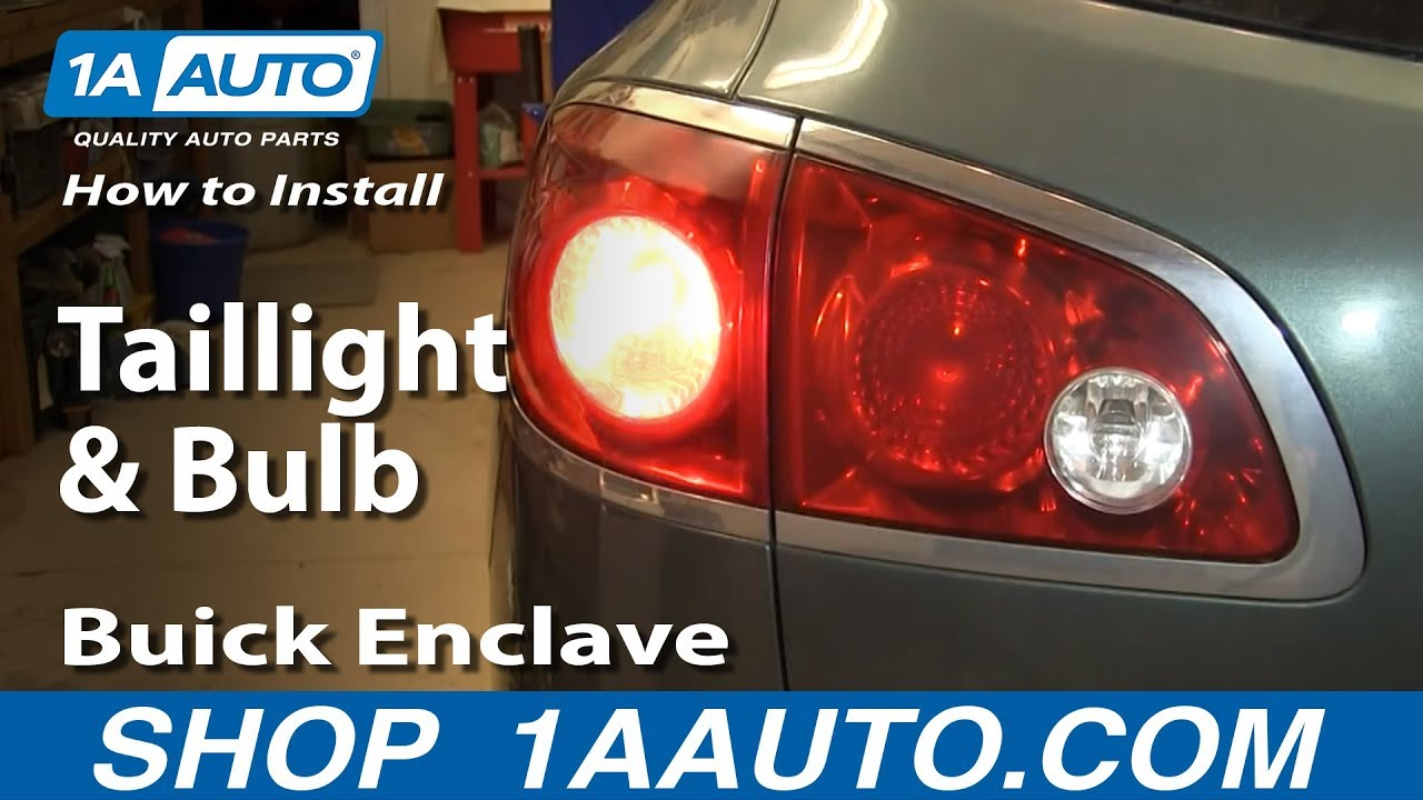 How to install replace change taillight and bulb 2008 14 buick enclave youtube