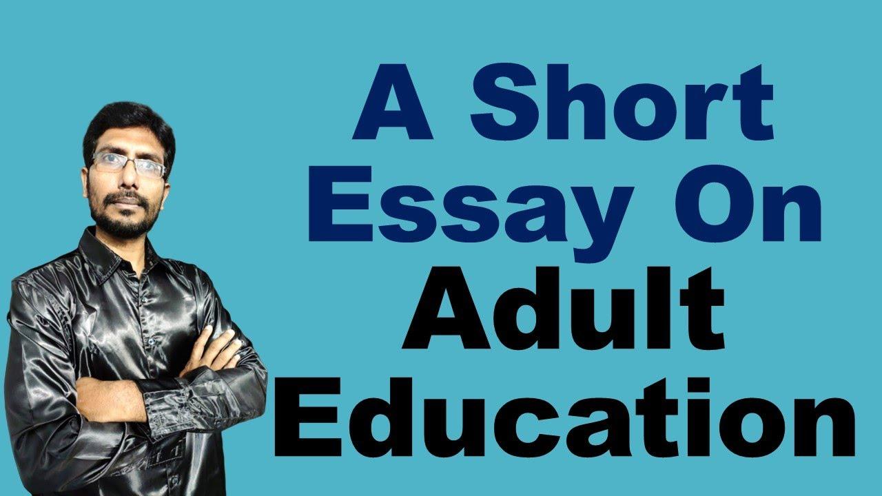 Essay on adult literacy