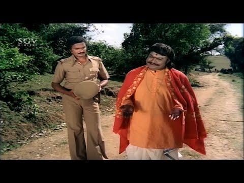 Police Suspects on Thoogudeepa Srinivas about Murder   Balakrishna   Nadurathri Kannada Movie Scene