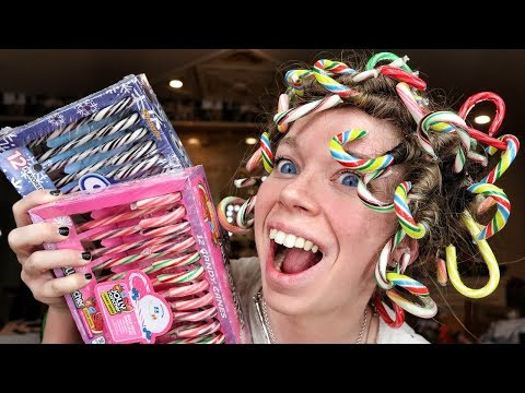 CAN IT CURL!? Candy Canes! | Curling my Hair with Candy Canes!