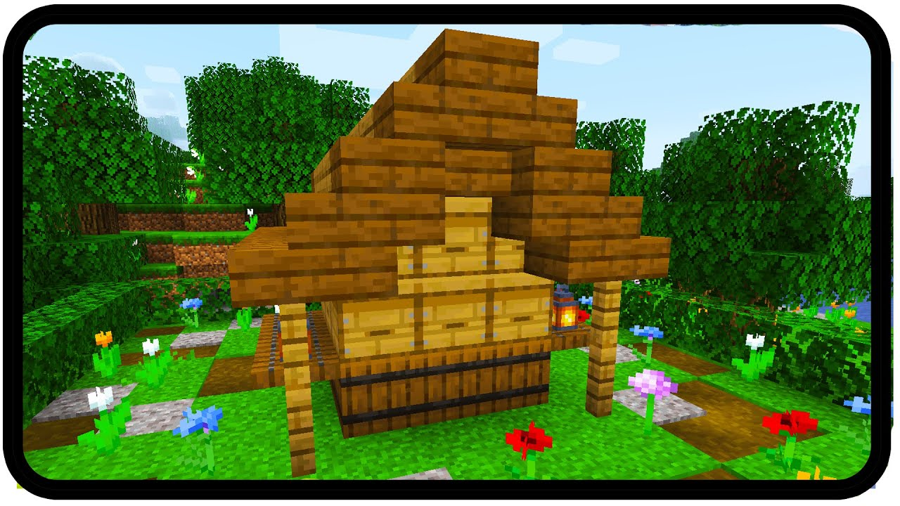 How to make a honey farm in Minecraft (design) YouTube