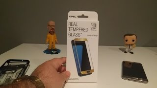 gpel tempered glass for the samsung galaxy s7 edge unboxing and review