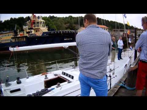 Sailing Ron Holland IOR racer Flirt of Paget summer of 2014