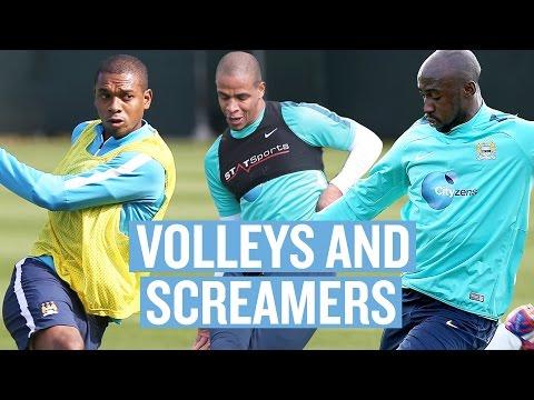 Volleys & Screamers | Fernandinho, Mangala, Fernando | Man City Training