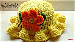 CROCHET How To #Crochet Baby Crochet Toddler Springtime Hat #TUTORIAL #220 supersaver DYI