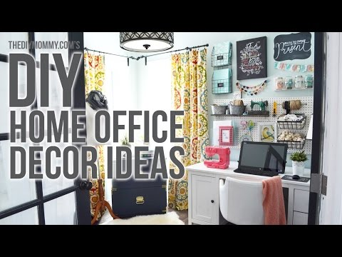 Craft Room Home Office Tour Easy Diy Office Decor Ideas