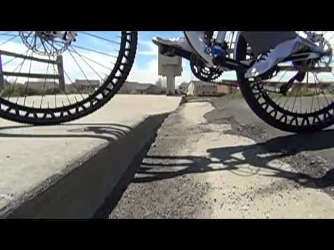 ERW britek AIRLESS  Bicycle High Frequency Wheels in Slow Motion