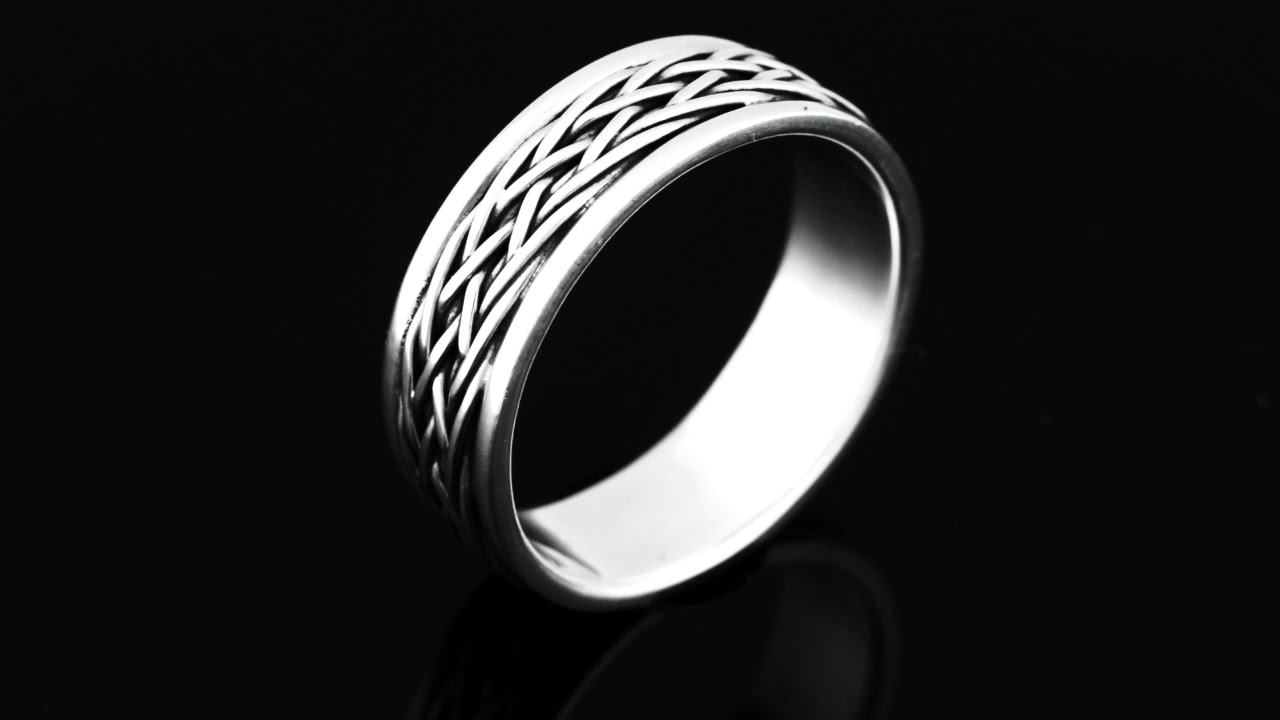 Finely Made Hallmark 925 Solid Sterling Silver Band Men Ring R-248