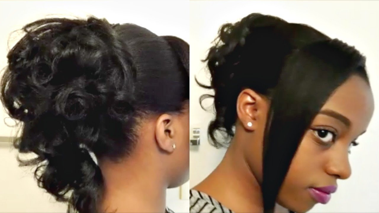 Heatless Curly Ponytail Updo Hairstyle Tutorial Cr Youtube