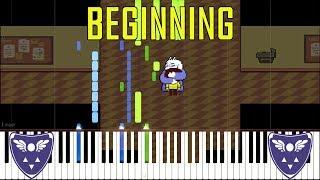 Beginning - Deltarune (Undertale Series) [Synthesia Piano Tutorial]