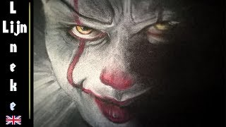 How to draw Pennywise the Clown IT Halloween Special pastel pencil drawing