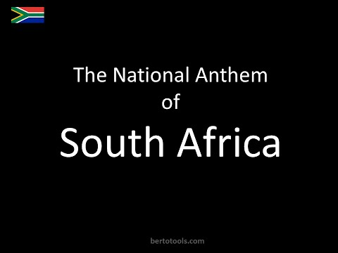 The National Anthem of South Africa Instrumental with lyrics (Nkosi Sikelel)