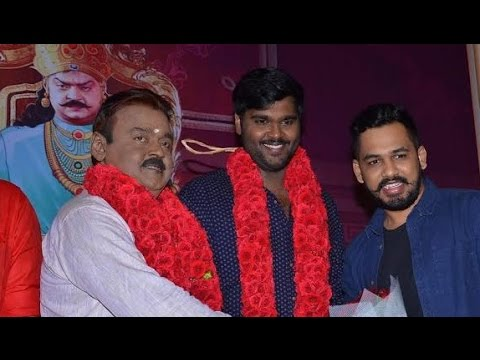 Captain Vijayakanth Speech : Love for Tamil made me act again | Tamilan Endru Sol Movie Launch
