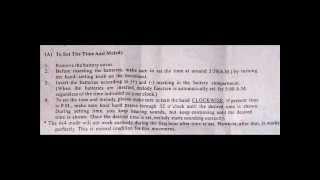 London Clock Company - Mantel Clock Instructions