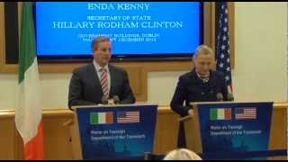 Secretary Hillary Clinton & Taoiseach Enda Kenny Press Conference
