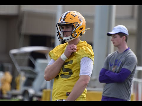 First-look At Myles Brennan, Other LSU QBs At Spring Practice No. 1