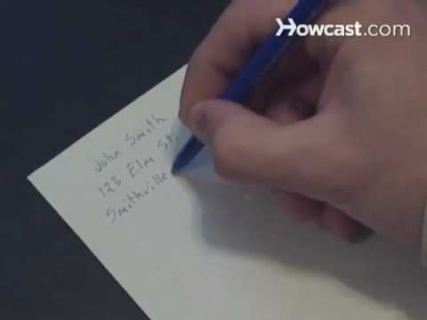 How to Address an Envelope - YouTube