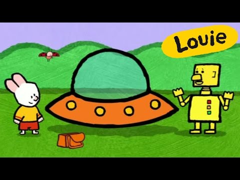 Flying saucer UFO - Louie draw me a flying saucer | Learn to draw, cartoon for children