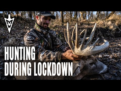 Shooting A Buck Off The Ground, Hunting The Rut During Lockdown | Midwest Whitetail