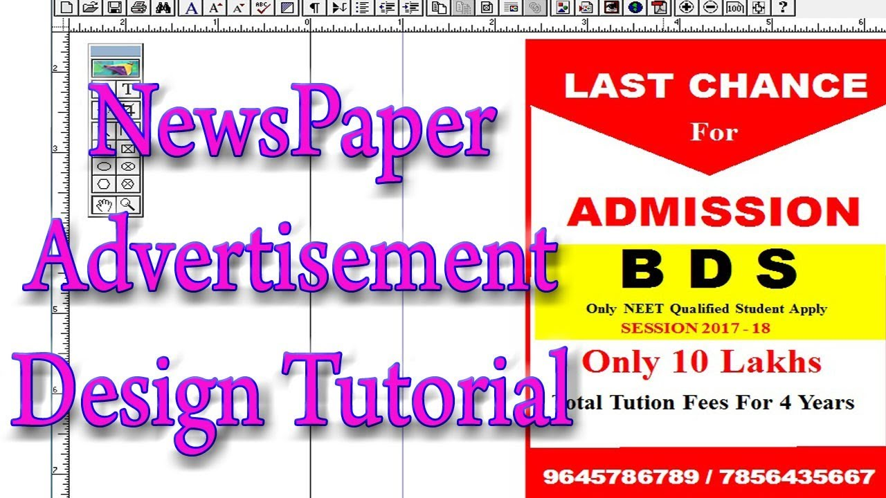 news paper advertisement design tutorial in adobe pagemaker 7 0 rh youtube com Adobe Photoshop 7.0 adobe pagemaker 7.0 user guide