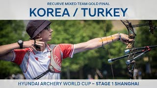 Korea v Turkey – Recurve mixed team gold | Shanghai 2018 Hyundai Archery World Cup S1