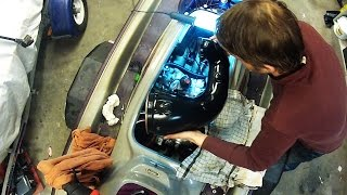 how to rebuild a seadoo 2stroke 951 part 7 paint and install exhaust and air silencer