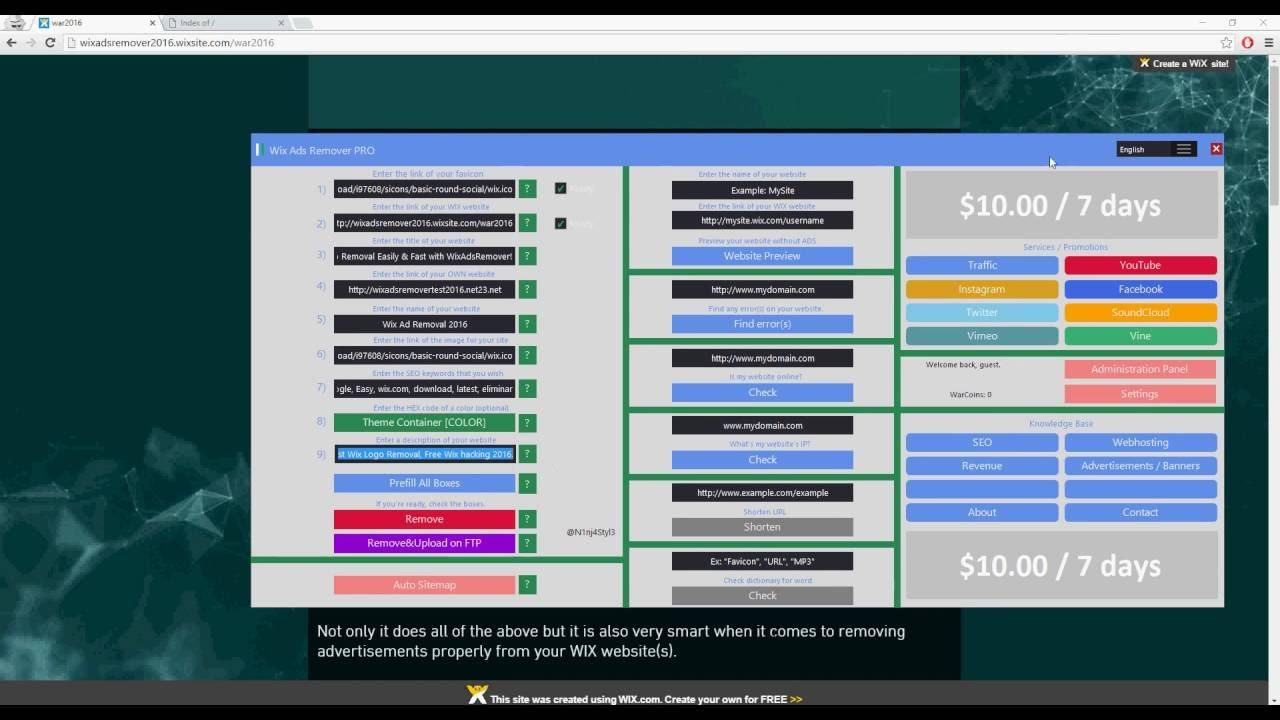 Wix Ads Remover Pro 2 8 7 || Remove Wix Ads || Remove Wix