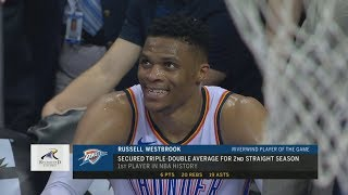 Russell Westbrook 1st With 2 Triple Double Seasons! 2017-18 Season
