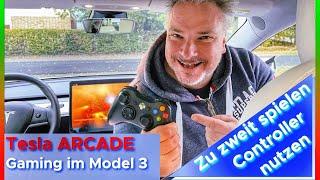 Gaming und Spielen im Tesla Model 3 | Sky Force RELOADED zu zweit zocken 🎮