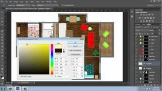 Adobe Photoshop Cs6 - Rendering A Floor Plan - Part 5 - Shadows/highlights - Brooke Godfrey