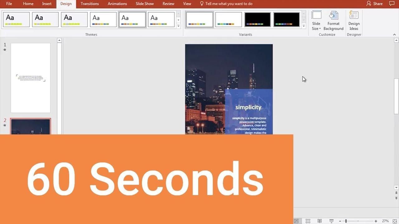 change powerpoint orientation