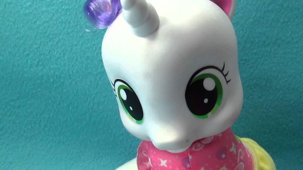 My Little Pony Unicorn Sweetie Belle Talking Newborn Baby