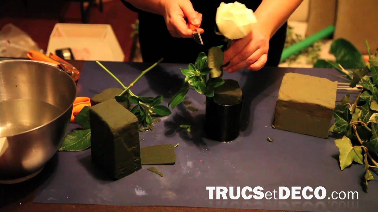 d coration florale piquage de fleurs tutoriel par youtube. Black Bedroom Furniture Sets. Home Design Ideas