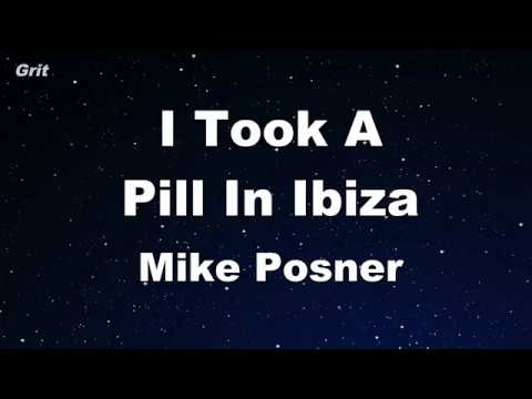 I Took A Pill In Ibiza - Mike Posner Karaoke 【No Guide Melody】 Instrumental