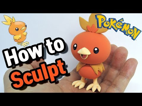Sculpting Torchic cute Fire-type Pokémon in Clay step by step