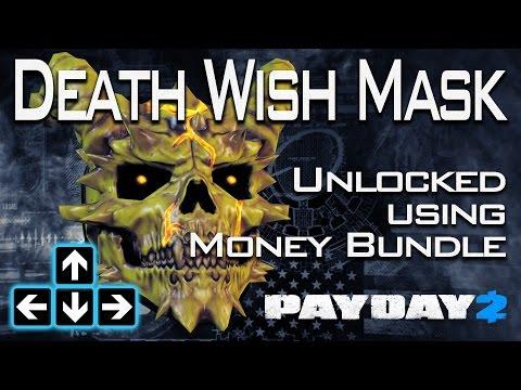 Payday 2 - Unlocking My Death Wish Mask With the Money Bundle