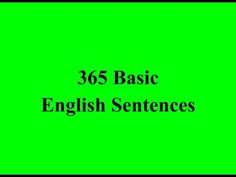 365 Basic English Sentences