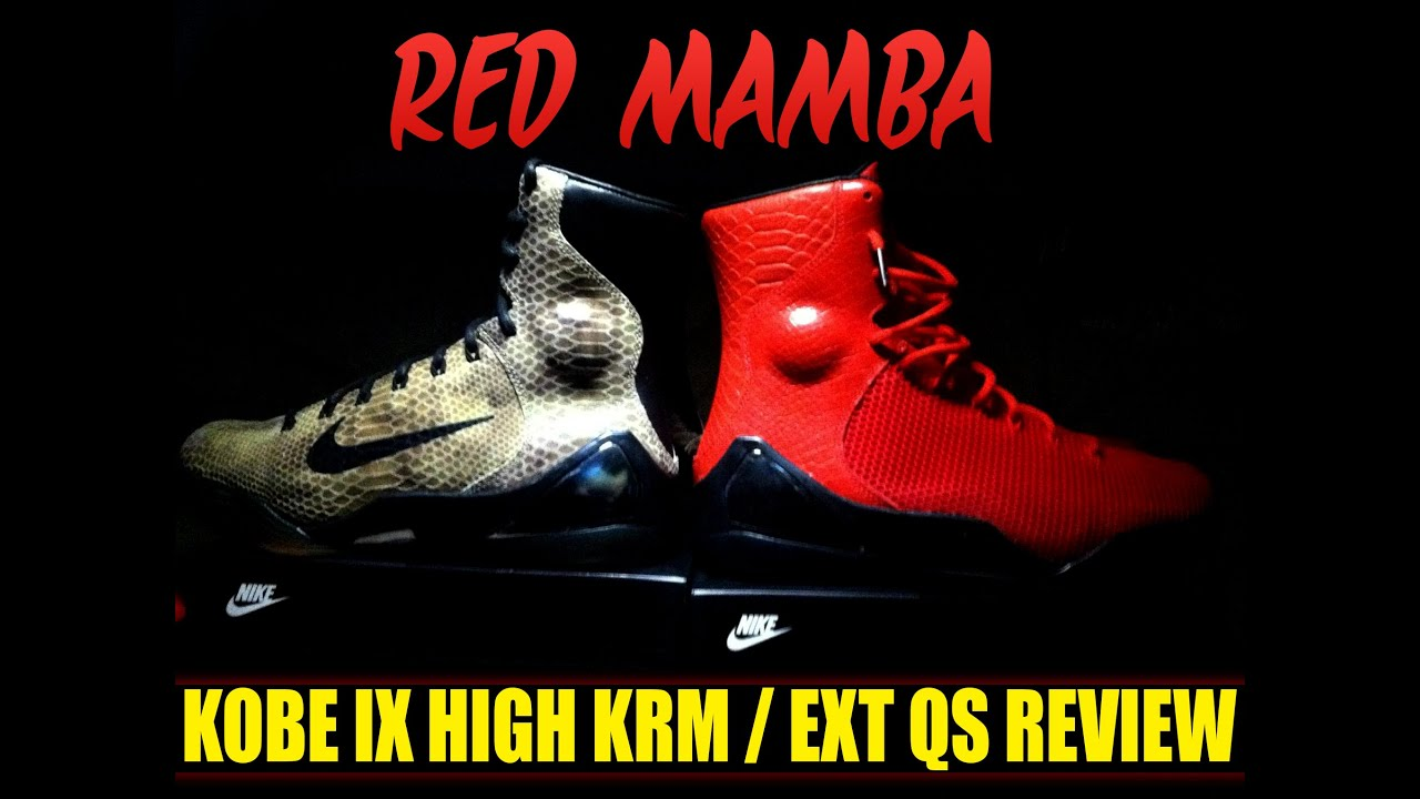 18cf2cc9f7a0 KOBE IX 9 KRM EXT QS + ON FOOT - CHALLENGE RED RED MAMBA RED OCTOBER ...