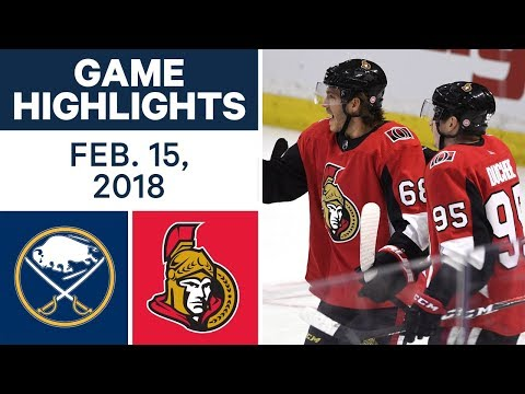 NHL Game Highlights | Sabres vs. Senators - Feb. 15, 2018