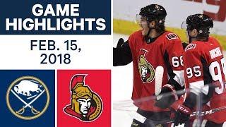 NHL Game Highlights   Sabres vs. Senators - Feb. 15, 2018