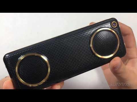 Телефон с двумя большими динамиками.