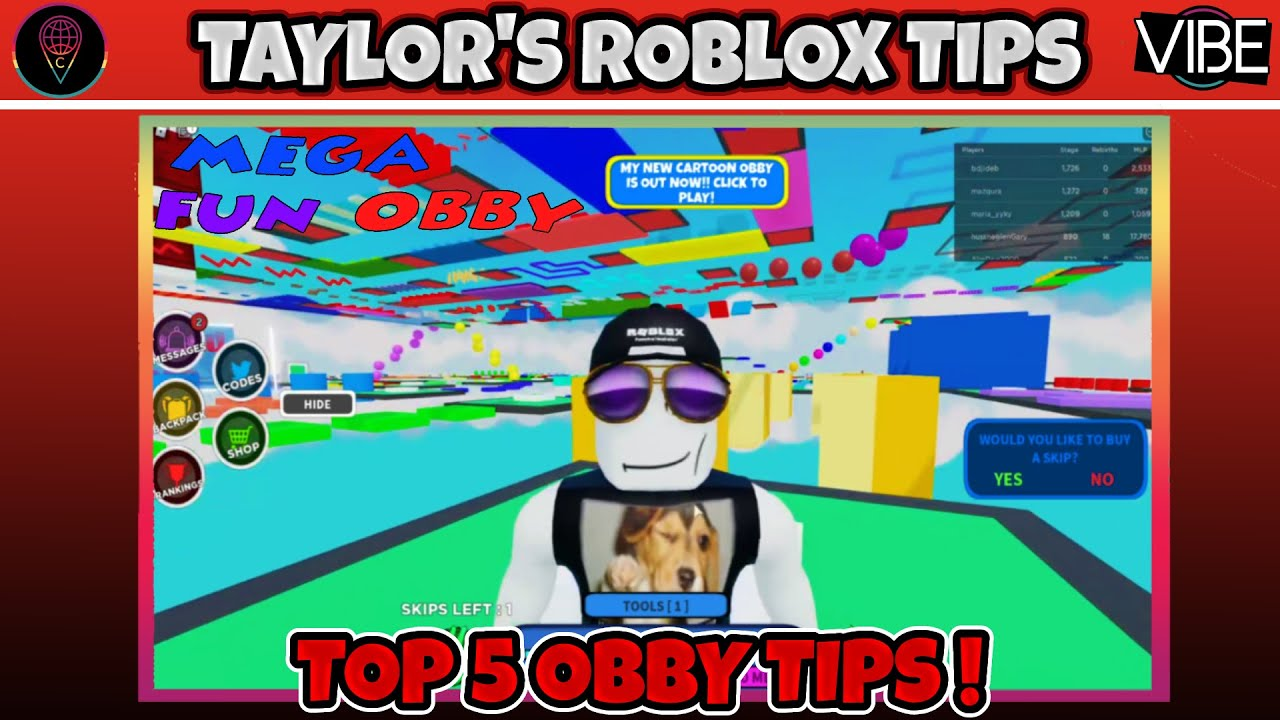 Taylor's Top 5 Roblox Obby Tips
