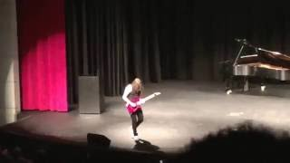 "16 YEAR OLD KILLS ""Eruption""and ""Sweet Child o Mine"" IN SCHOOL  TALENT SHOW!!!"