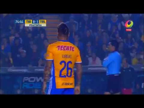 Debut Eduardo Vargas en Tigres vs Toluca