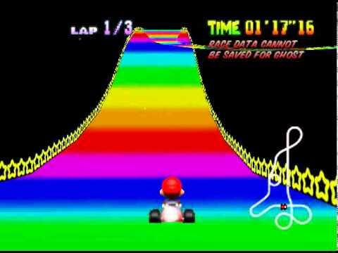 Mario Kart 64 Rainbow Road Time Trial Youtube