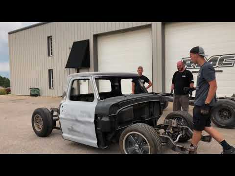 Fitting Ford F100 To Roadster Shop Frame - YouTube