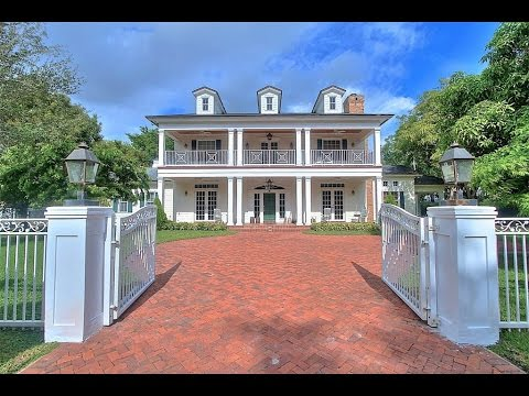 Two Story Colonial Revival Custom Home in Pinecrest, Florida