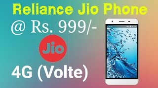 Reliance jio 4G volte phone only Rs. 999
