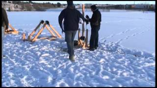 Legend High School 12/6/2013 Murlin Trebuchet Using Leonard Vance Plans